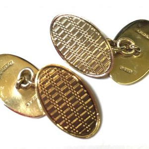 9k gold pre-owned cufflinks
